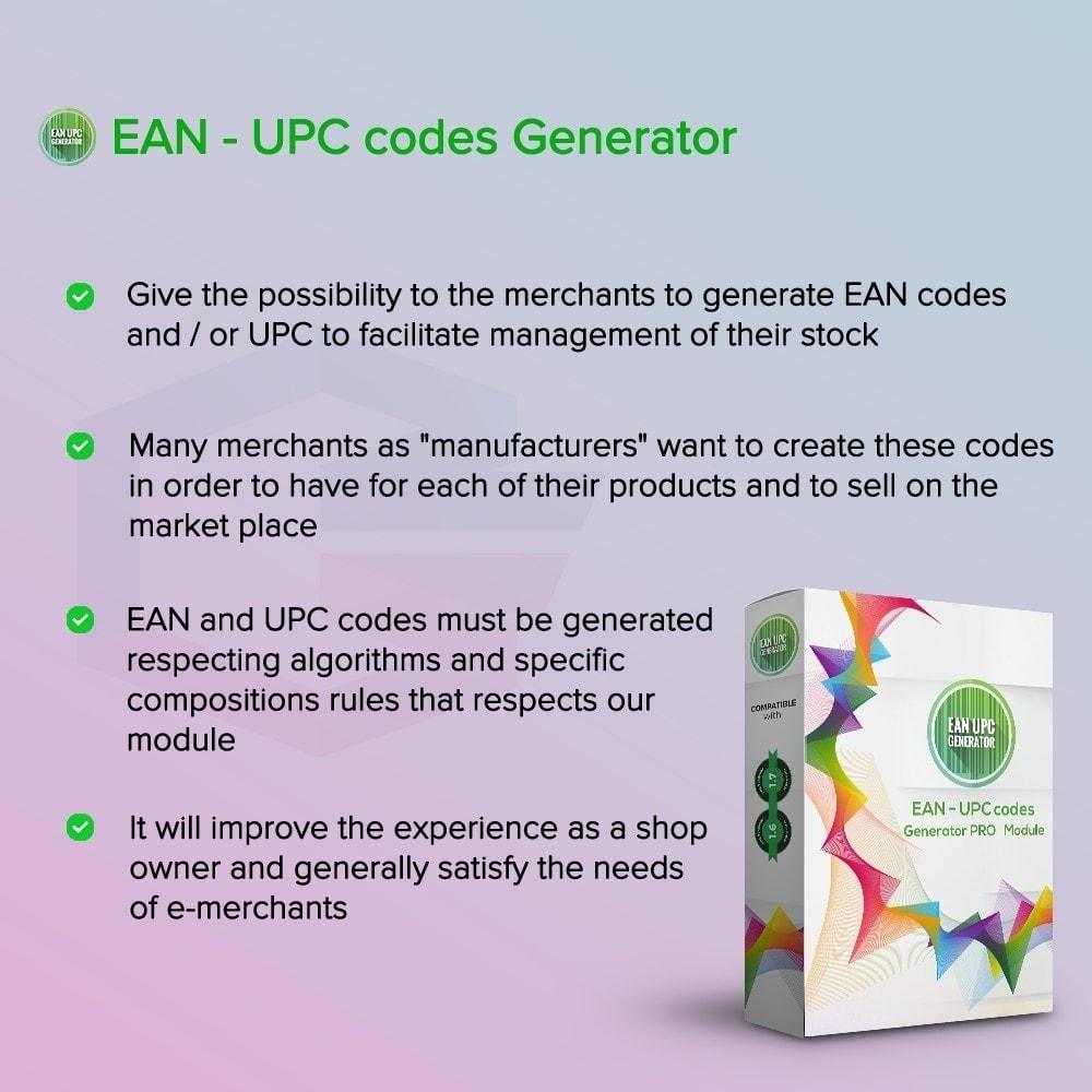 module - Gestion des Stocks & des Fournisseurs - Générateur de codes EAN-UPC - 1