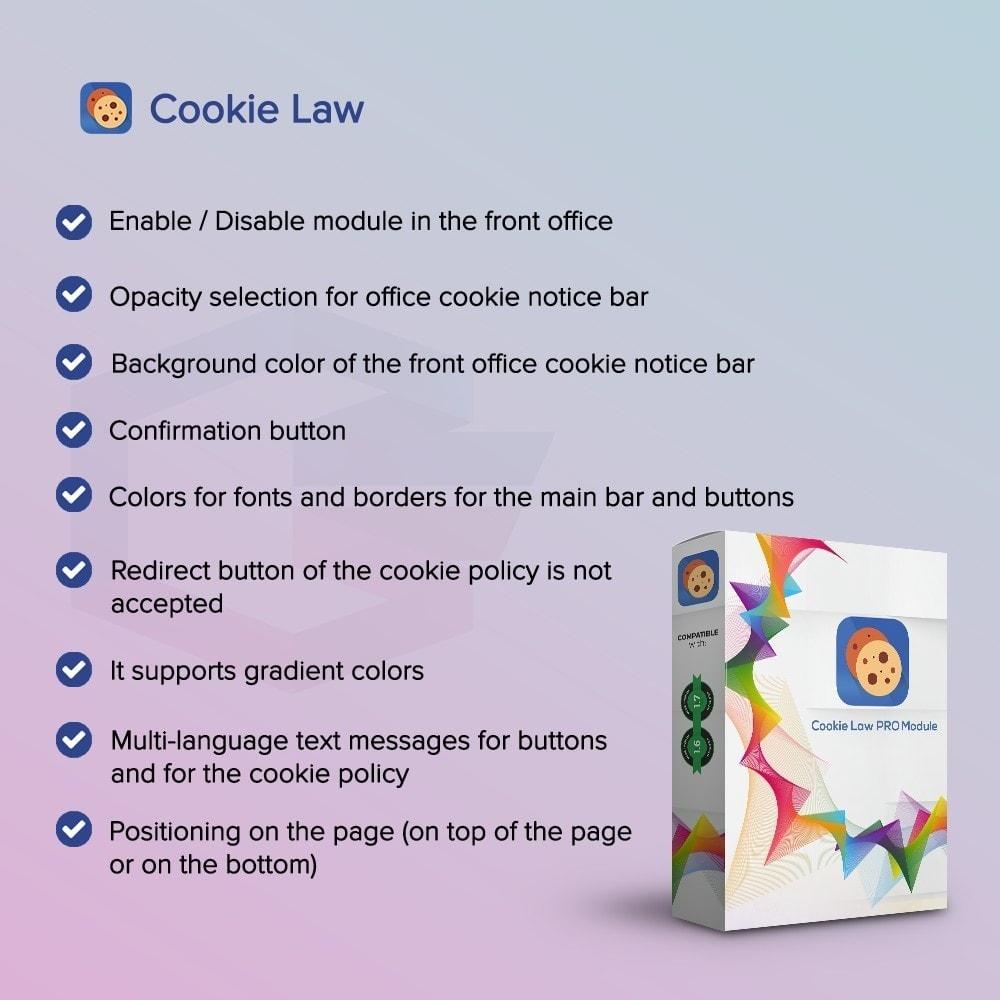 module - Legale (Legge Europea) - Legge sui Cookie - 1