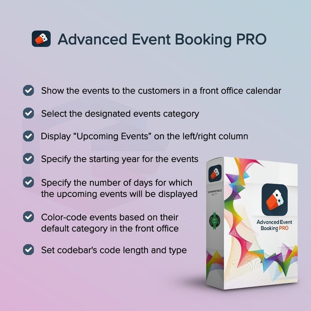 module - Verhuur en reserveringen - Advanced Event Booking PRO - 1