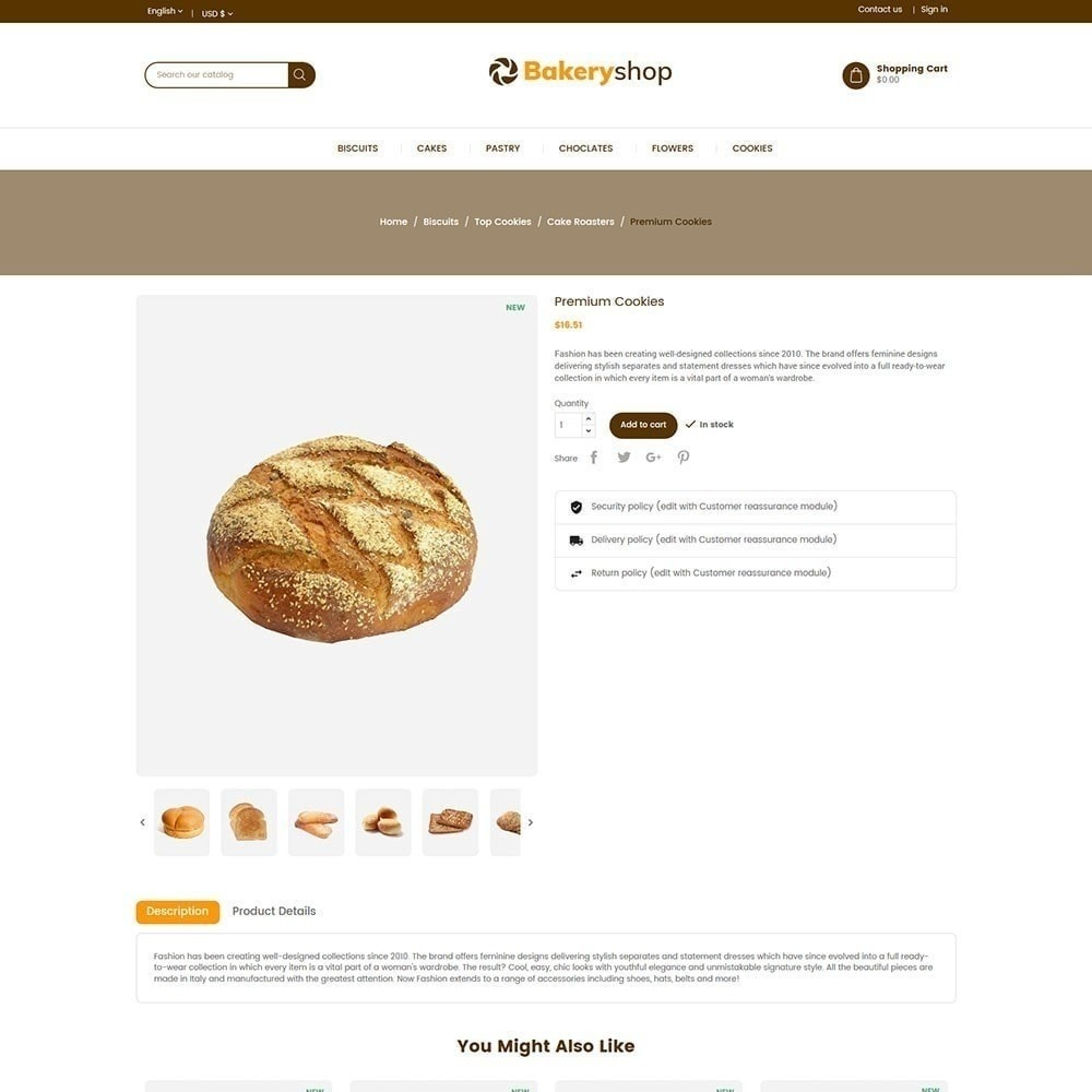 theme - Food & Restaurant - Bakery Food Store - 3