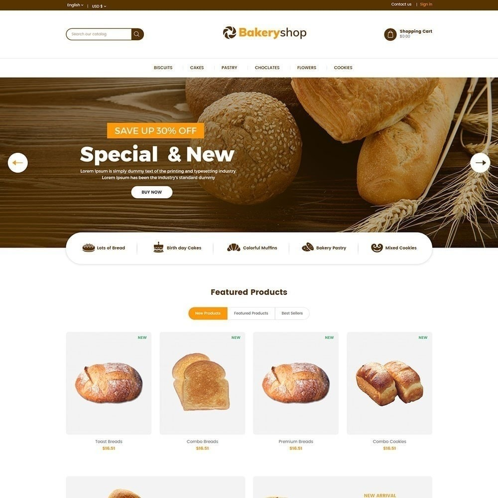 theme - Lebensmittel & Restaurants - Bäckerei-Lebensmittelgeschäft - 3