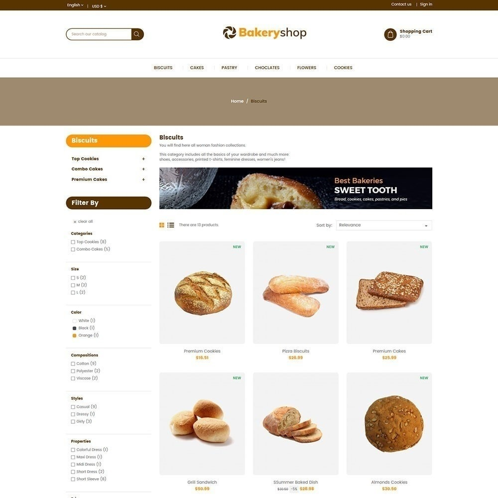 theme - Cibo & Ristorazione - Negozio di alimentari da forno - 5