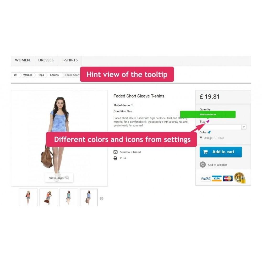 module - Combinaciones y Personalización de productos - Tooltips of attributes in product page - 8