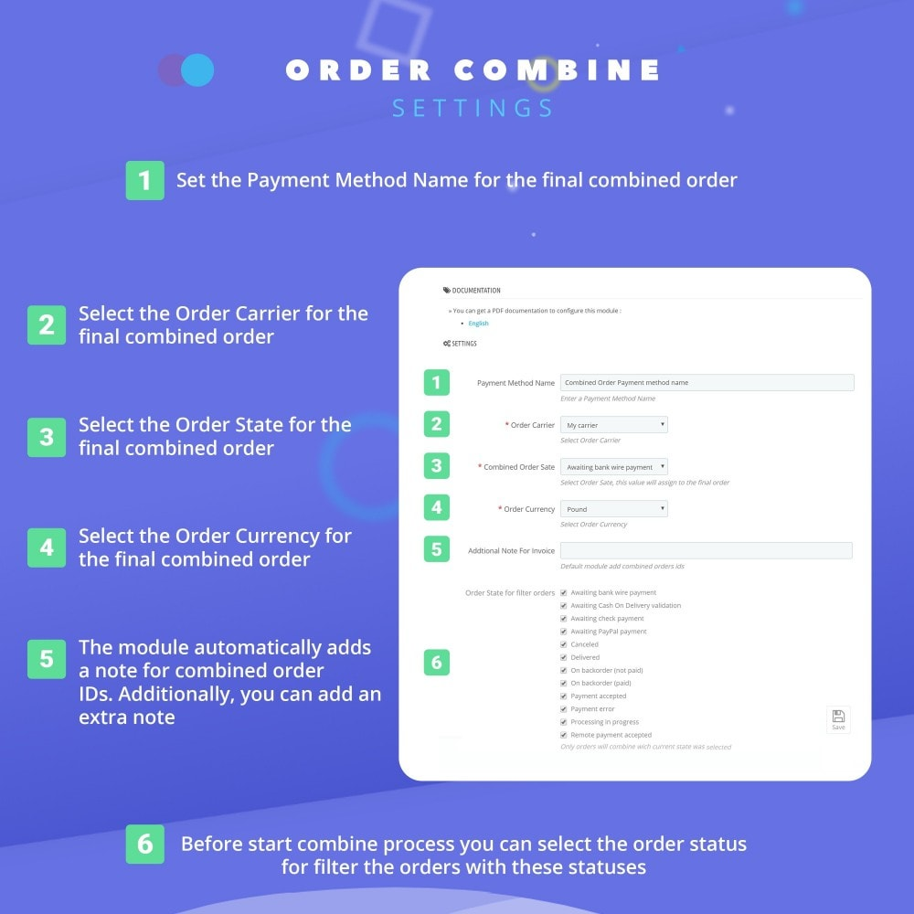 module - Управление заказами - Fast Combine Order / Invoice - 4
