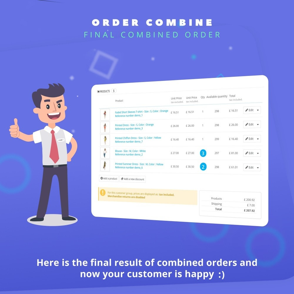 module - Управление заказами - Fast Combine Order / Invoice - 7