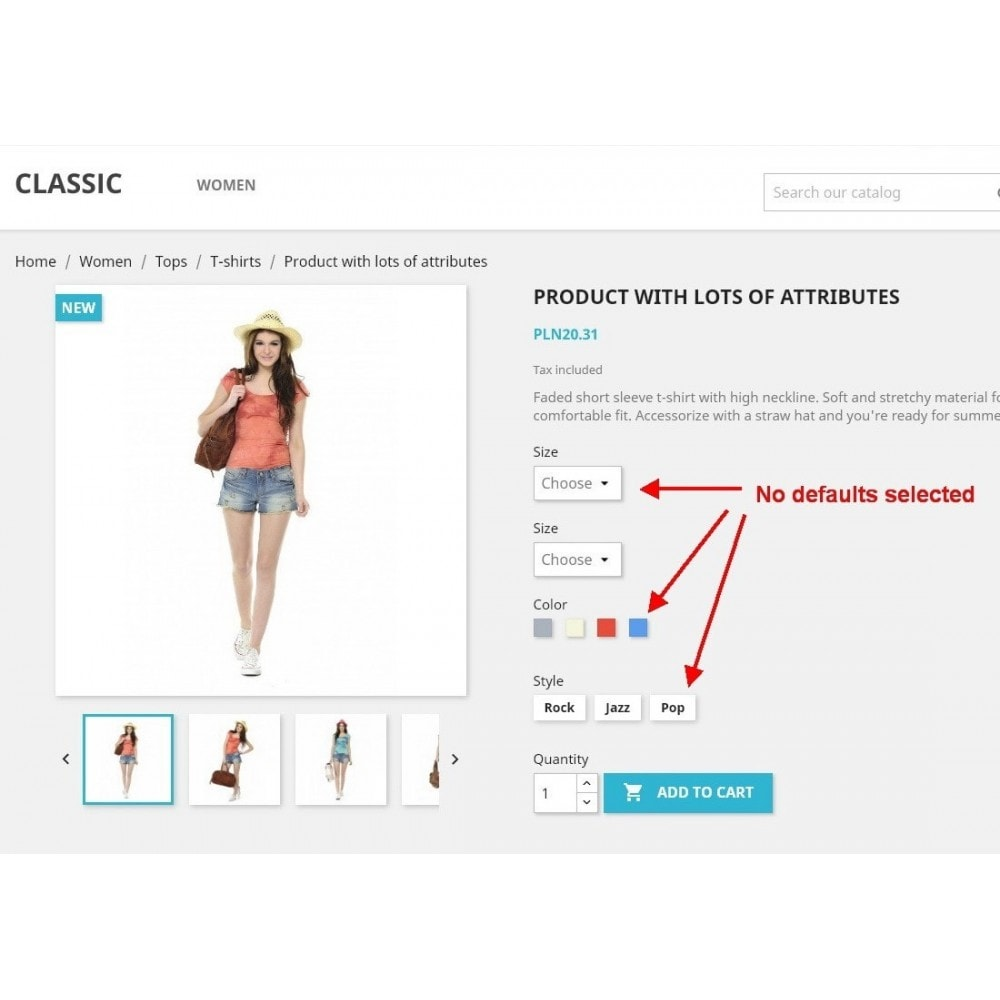 module - Versies & Personalisering van producten - Force select product attribute - 1