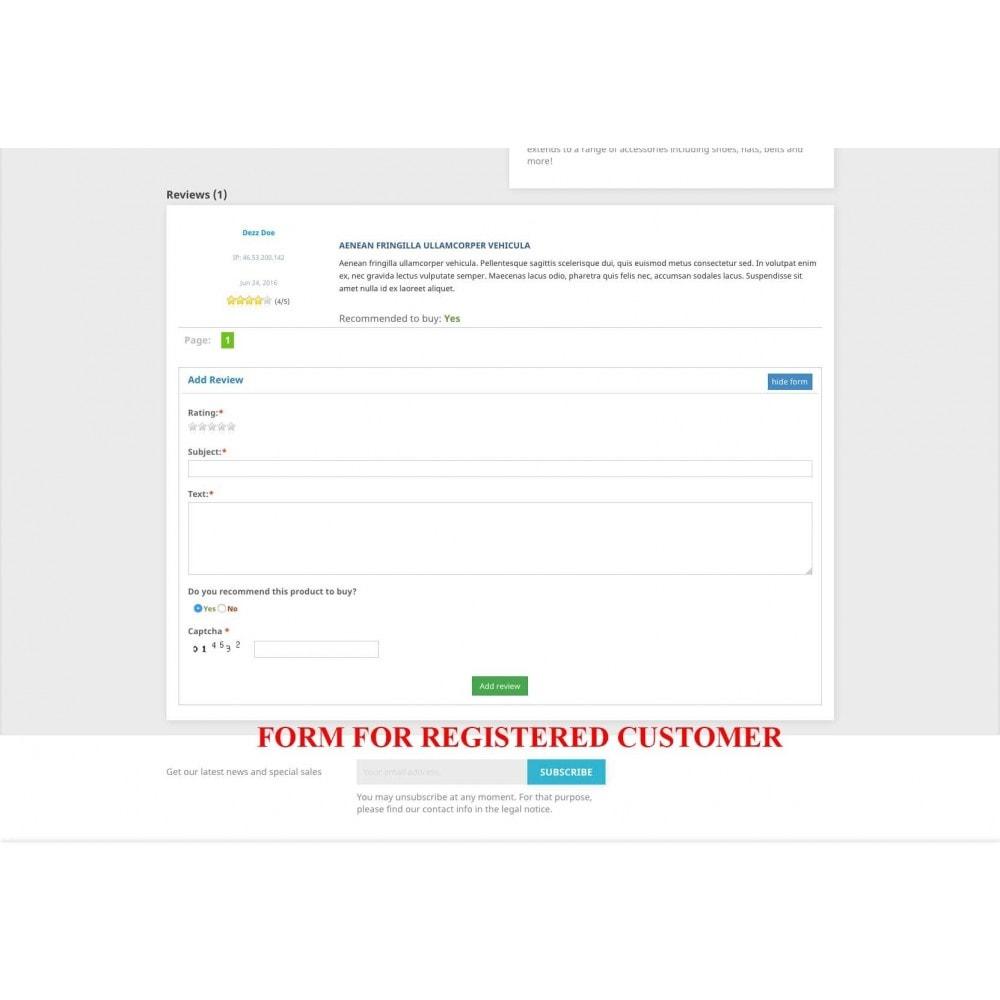 module - Comentarios de clientes - Product reviews simple + - 3