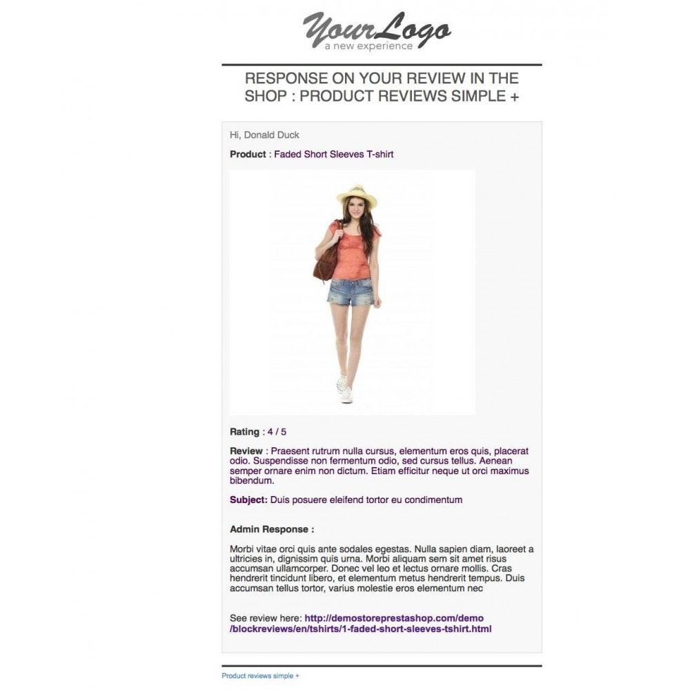 module - Comentarios de clientes - Product reviews simple + - 15