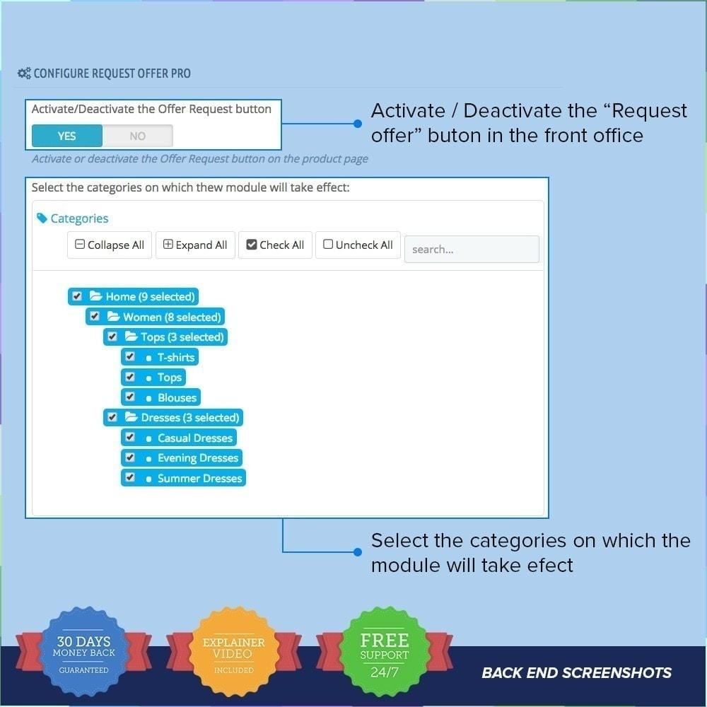 module - Information supplémentaire & Onglet produit - Demande d'offre / Devis PRO - 1
