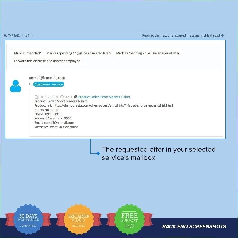 module - Altre informazioni & Product Tab - Solicitar oferta/presupuesto PRO - 5