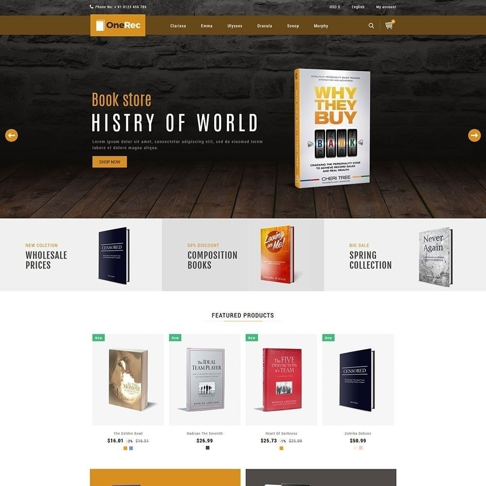 theme - Kultura & Sztuka - Jeden Rec Book Store - 3