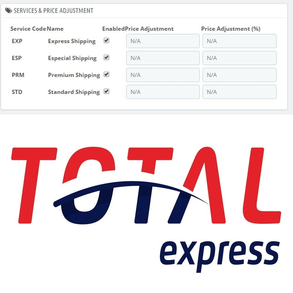 module - Verzendkosten - Total Express Shipping Rates and Shipment - 1