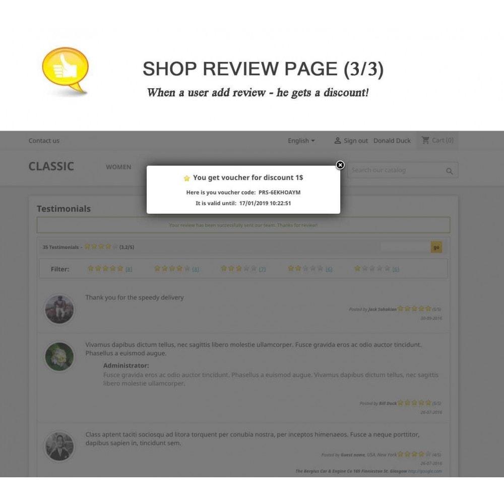 module - Opinie klientów - Shop Reviews + Avatars + Reminder + Rich Snippets - 3