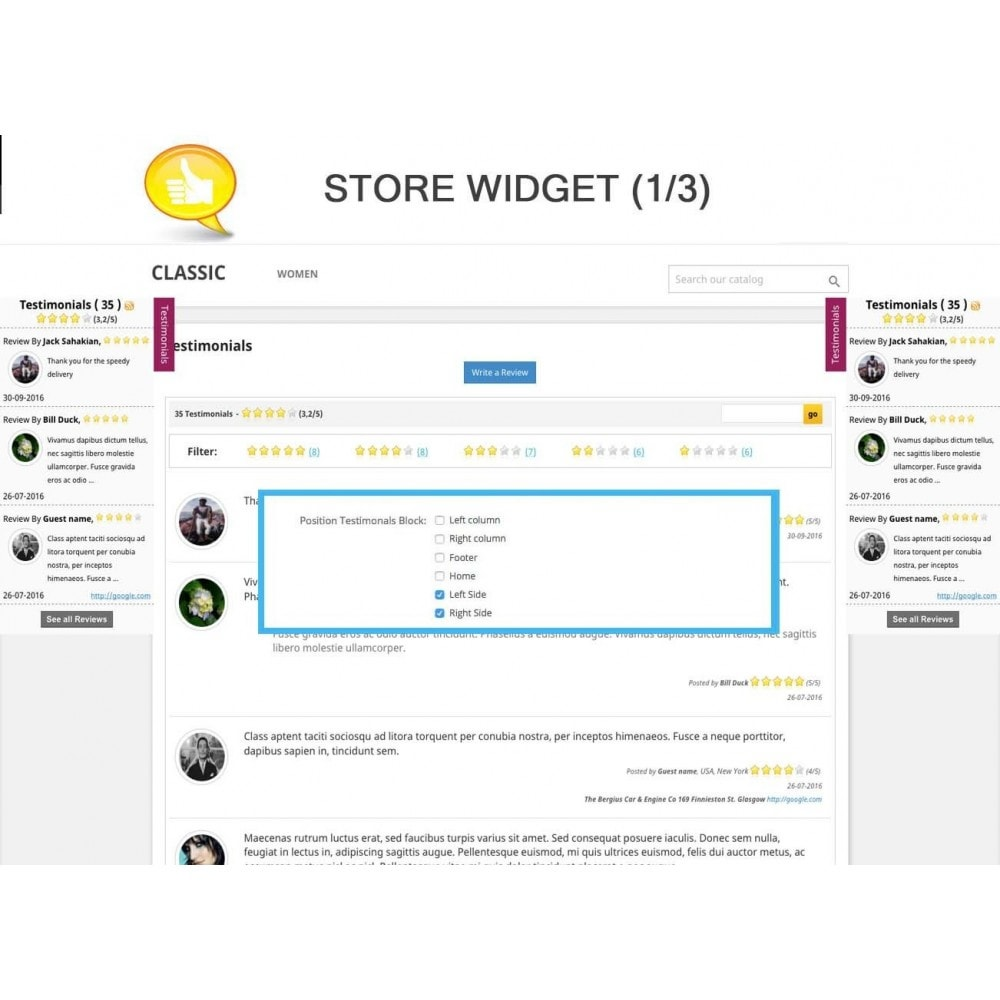 module - Comentarios de clientes - Shop Reviews + Avatars + Reminder + Rich Snippets - 7