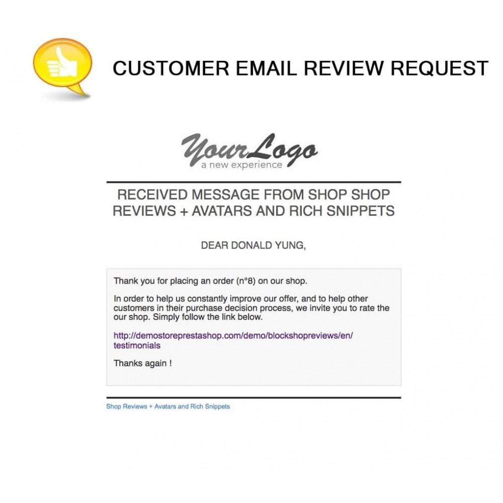 module - Comentarios de clientes - Shop Reviews + Avatars + Reminder + Rich Snippets - 21