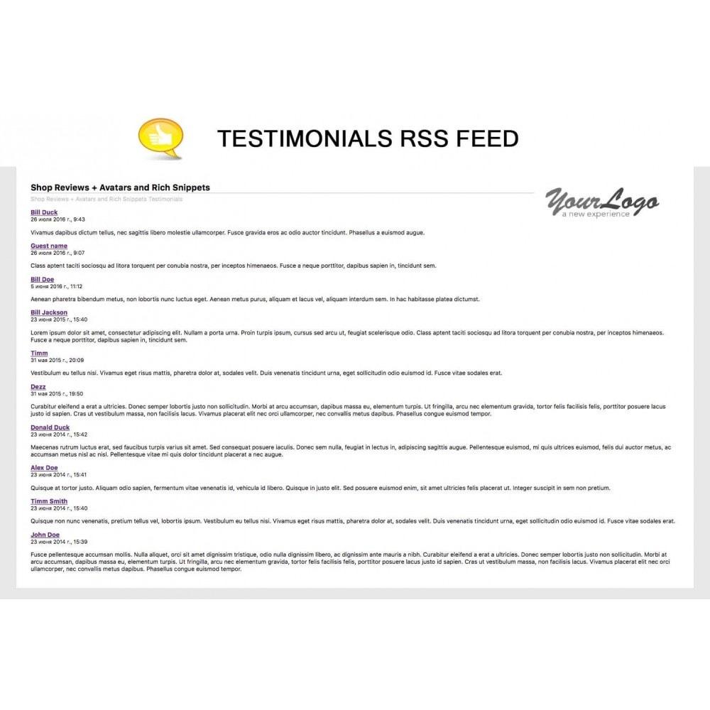 module - Comentarios de clientes - Shop Reviews + Avatars + Reminder + Rich Snippets - 25