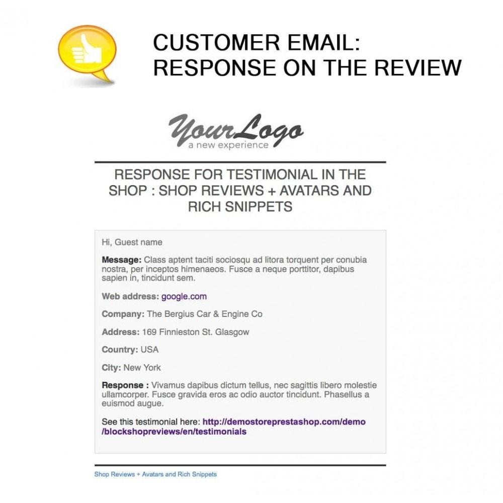 module - Comentarios de clientes - Shop Reviews + Avatars + Reminder + Rich Snippets - 29