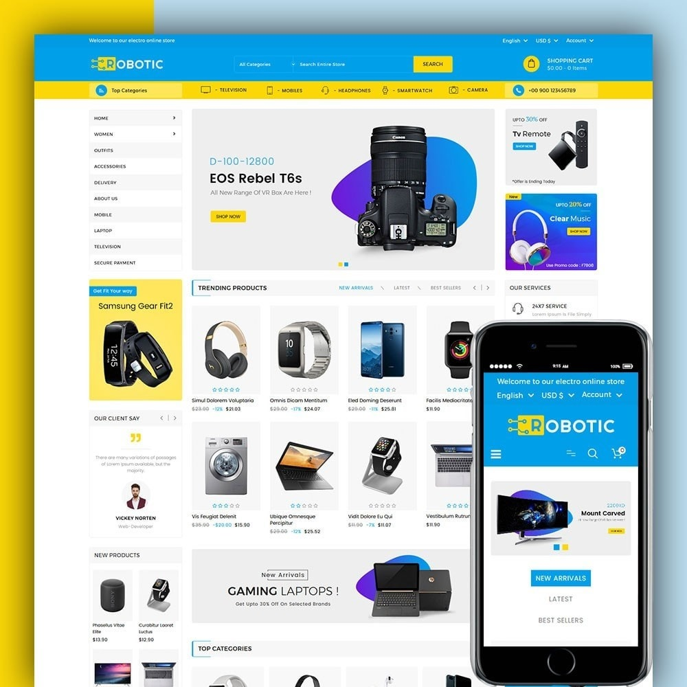 theme - Elektronica & High Tech - Robotic Electronics Store - 1
