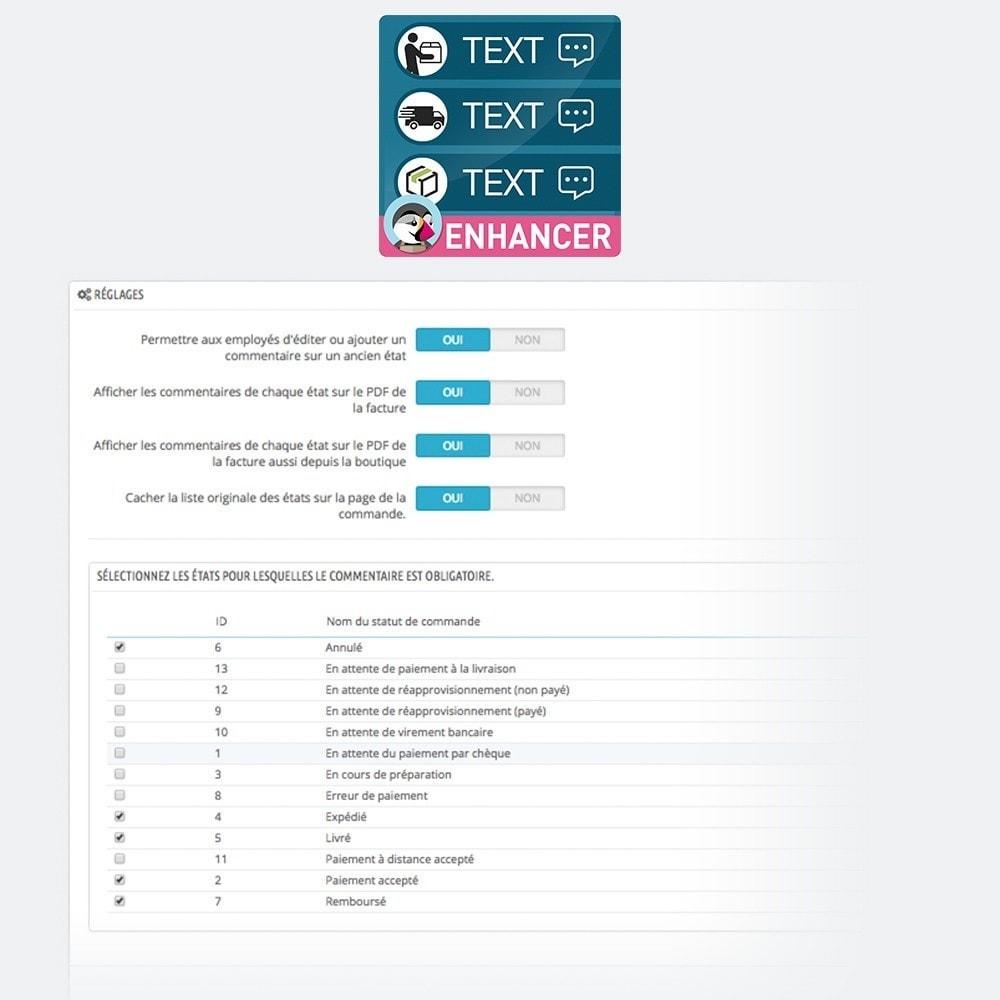 module - Comptabilité & Facturation - Ajouter commentaires sur les statuts de commande - 3