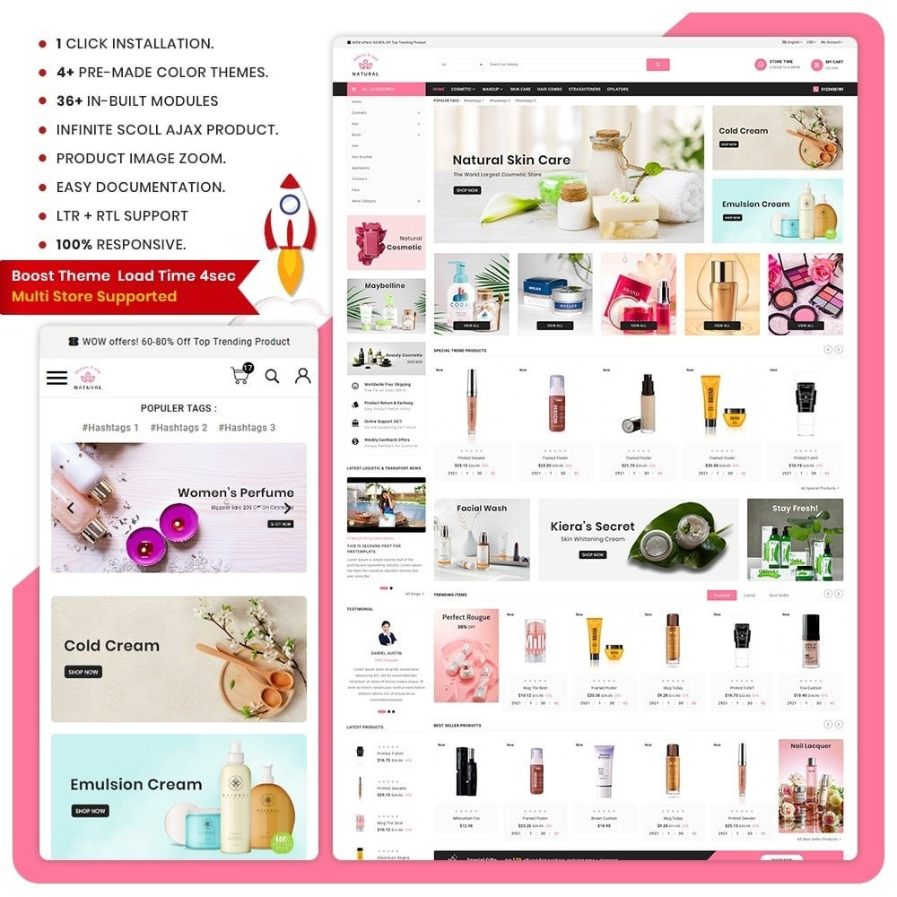 theme - Health & Beauty - Natural - Natural Cosmetic Super Store - 1