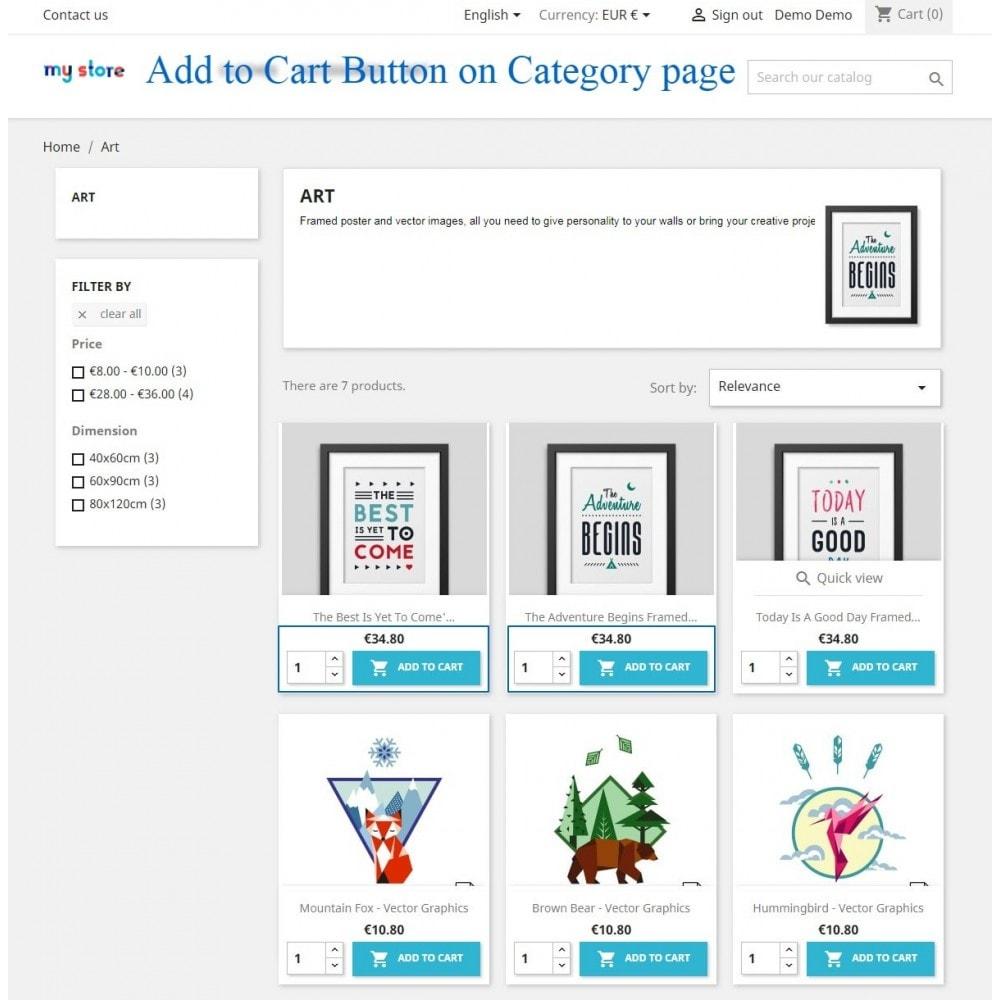 module - Pегистрации и оформления заказа - Show add to cart button product list / category page - 4