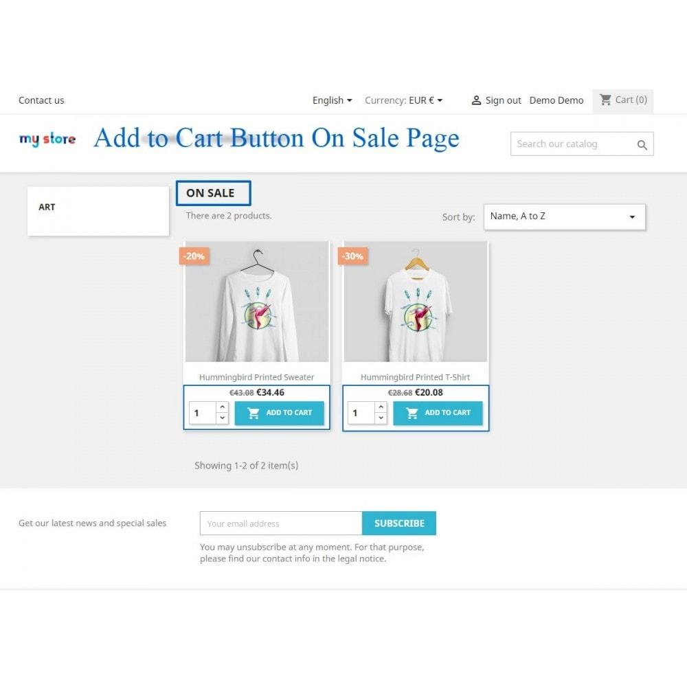 module - Pегистрации и оформления заказа - Show add to cart button product list / category page - 6