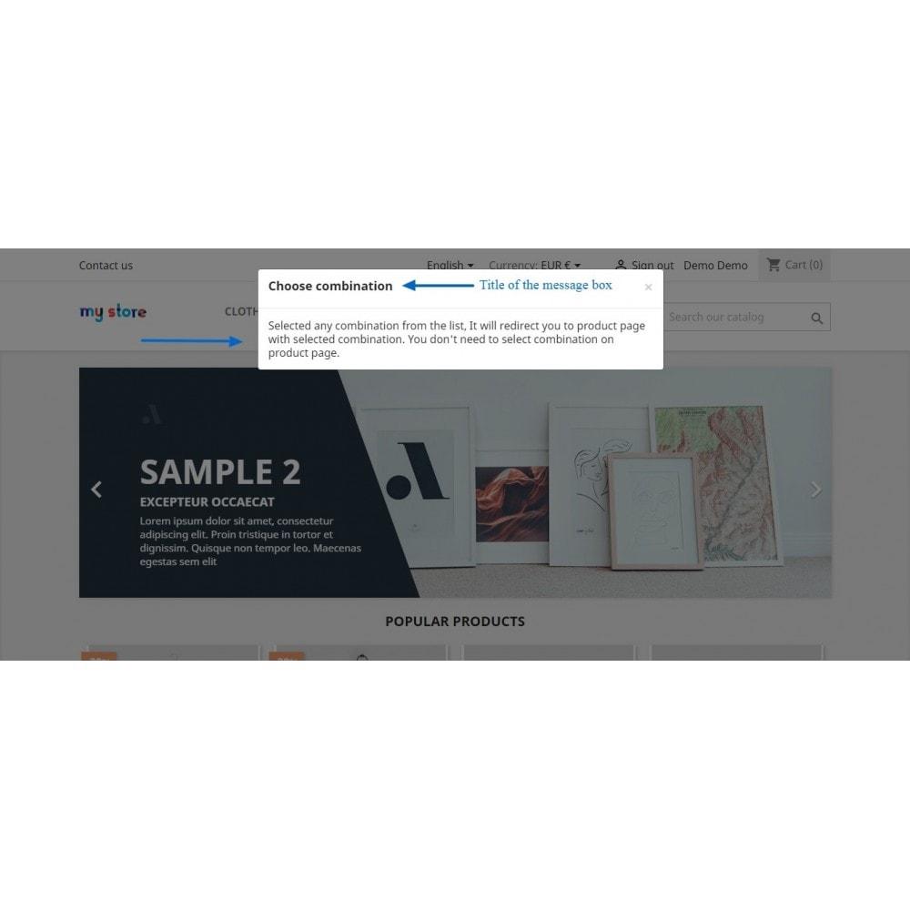 module - Déclinaisons & Personnalisation de produits - Show Product Combination - 11