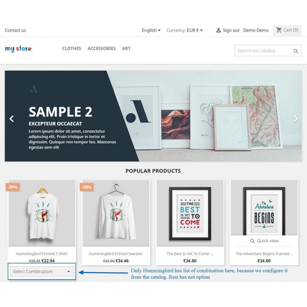 module - Déclinaisons & Personnalisation de produits - Show Product Combination - 16