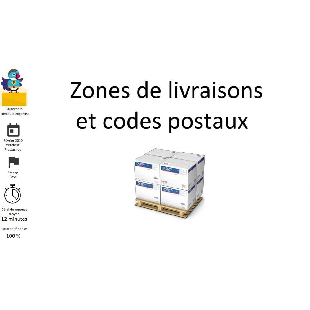 module - Frais de port - Zones de livraisons et codes postaux - 1