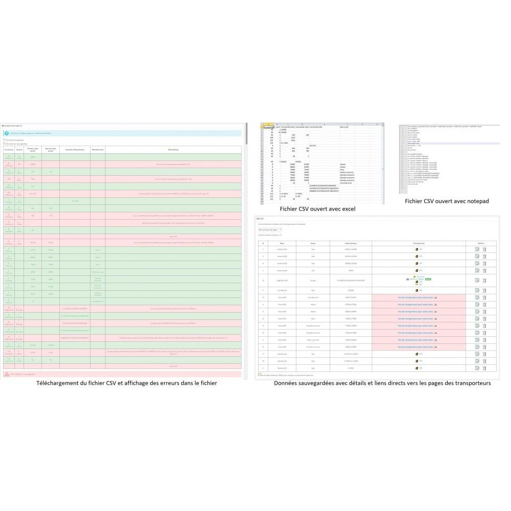 module - Frais de port - Zones de livraisons et codes postaux - 3