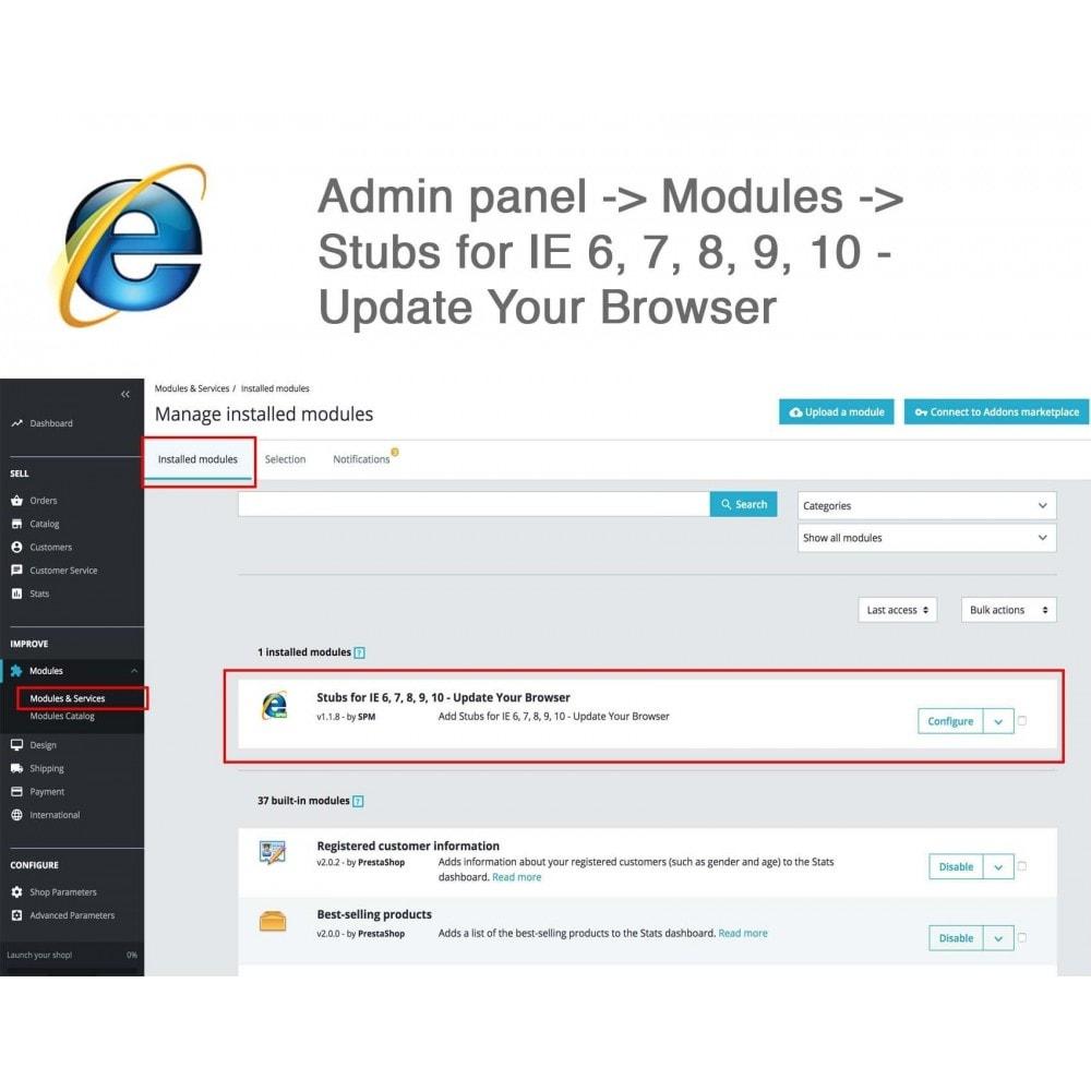 module - Миграции и сохранения данных - Stubs for IE 6,7,8,9,10 - Update Your Browser - 3