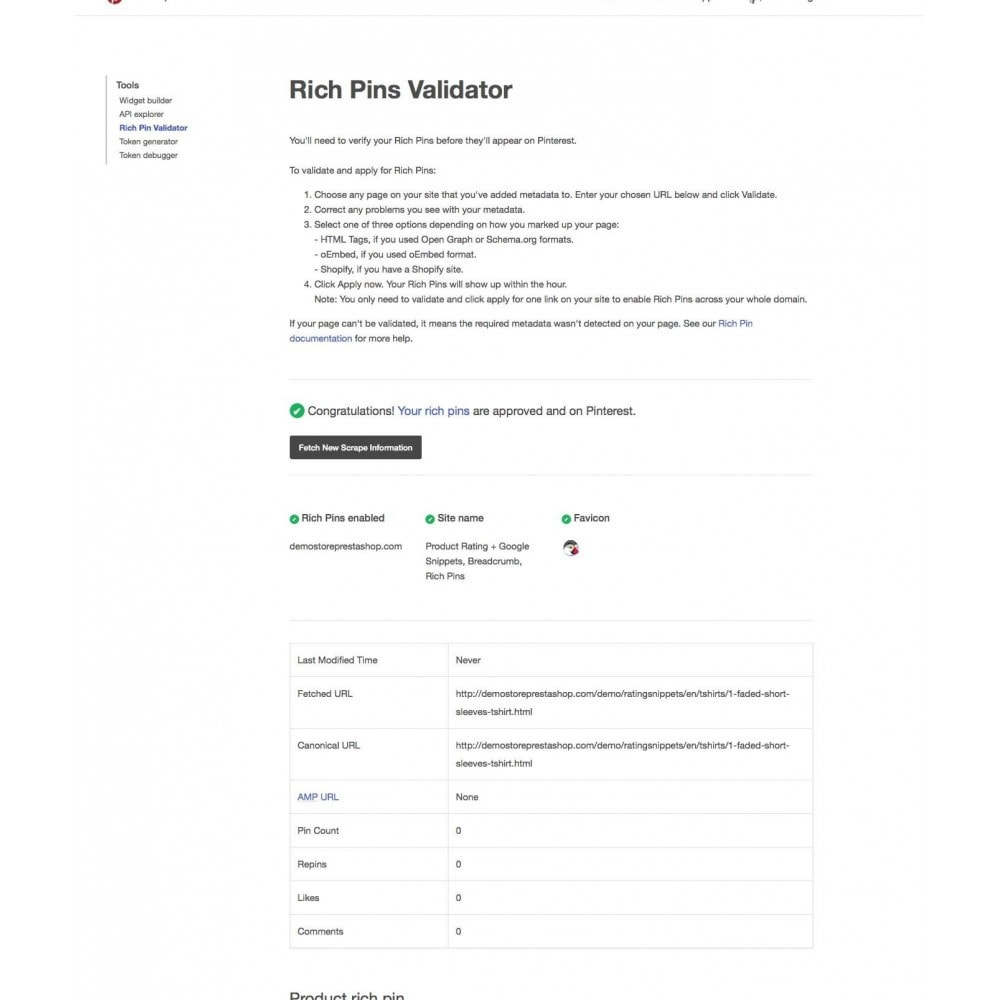 module - SEO (Referenciamento natural) - Product Rating + Google Snippets, Breadcrumb, Rich Pins - 5