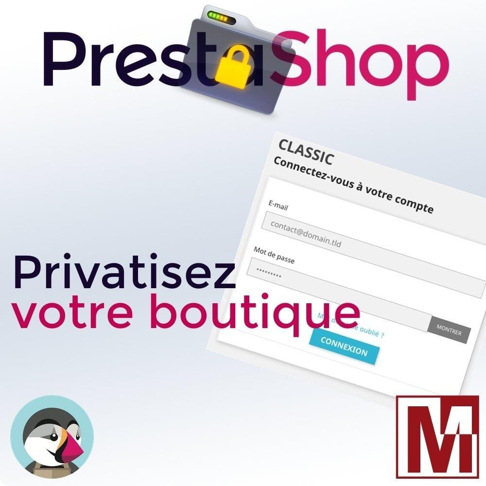 module - Sécurité & Accès - B2B Privatisez votre boutique - 1