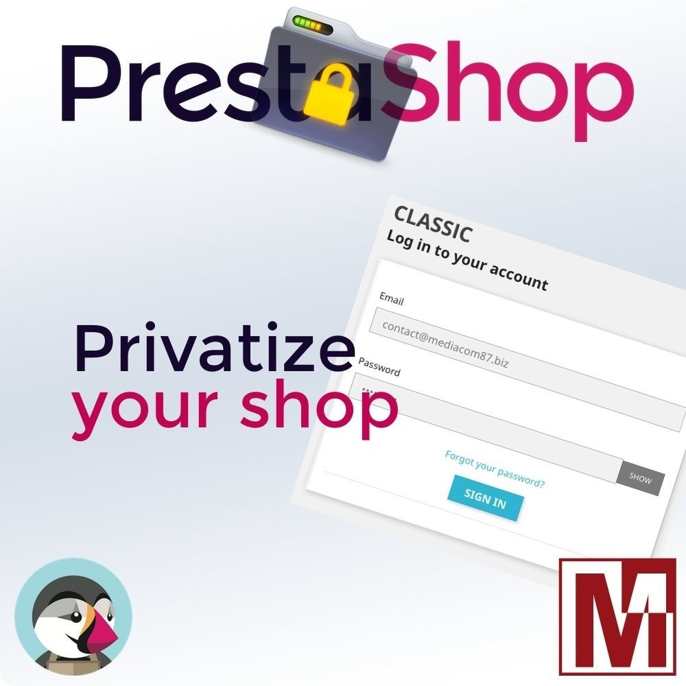 module - Bezpieczeństwa & Dostępu - B2B Privatize your shop - 1