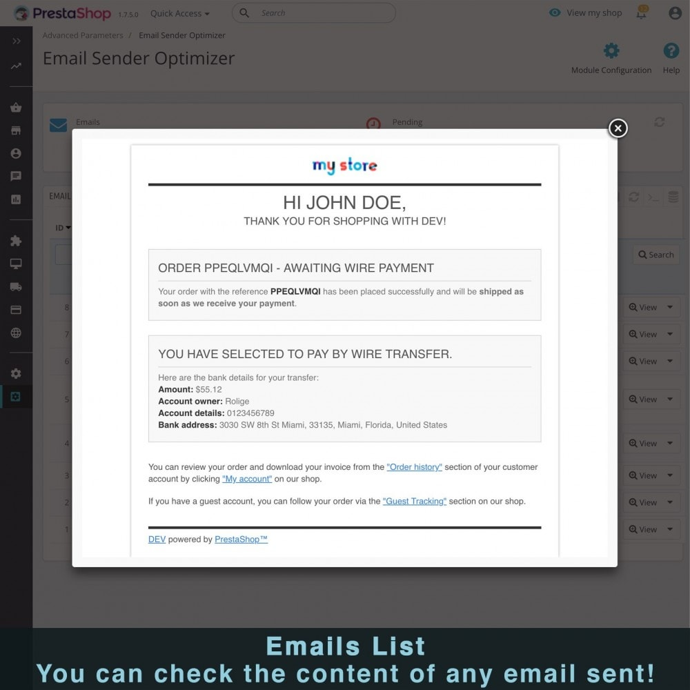 module - Notifications & Automatic Emails - Ultra Fast Email Sender Optimizer - 7