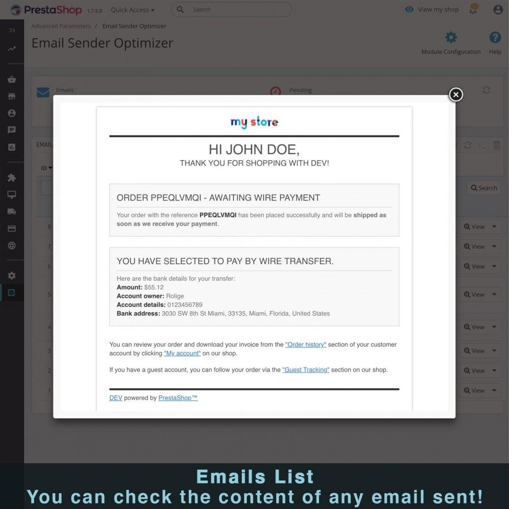 module - E-mails y Notificaciones - Optimizador Ultra Rápido de Envío de Correos - 7