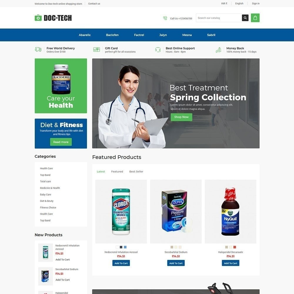 theme - Health & Beauty - Doctech - Medical Store - 5