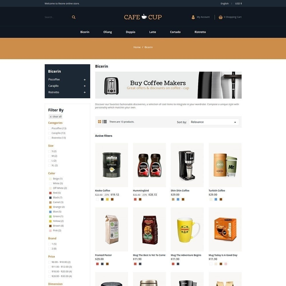 theme - Food & Restaurant - Cafe cup - Coffee Store - 5