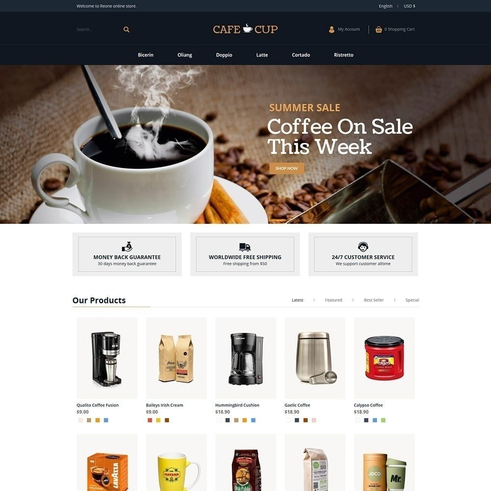 theme - Alimentation & Restauration - Tasse à café - magasin de café - 4