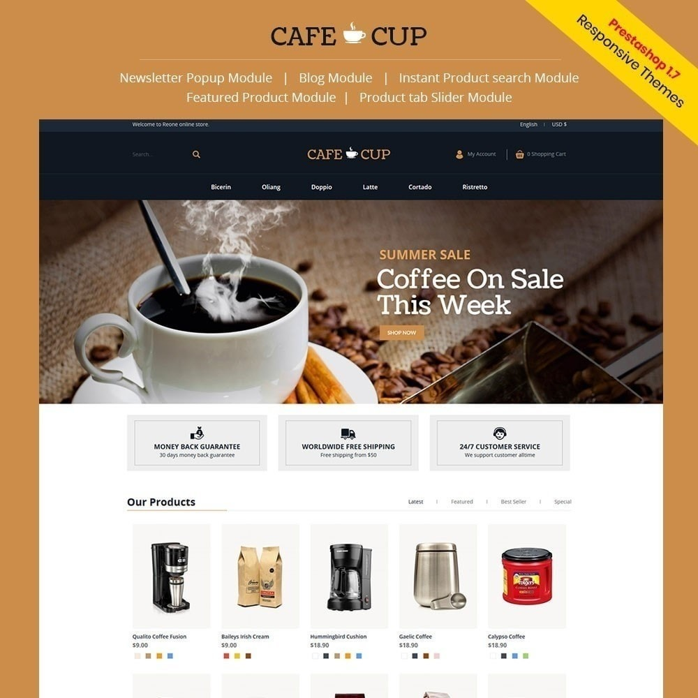 theme - Alimentos & Restaurantes - Cafe cup - Cafeteria - 2