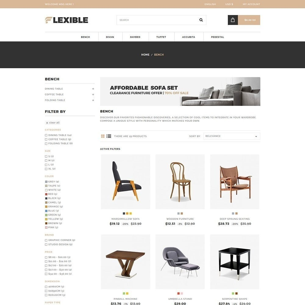 theme - Fashion & Shoes - Flexible  Furniture Store - 2