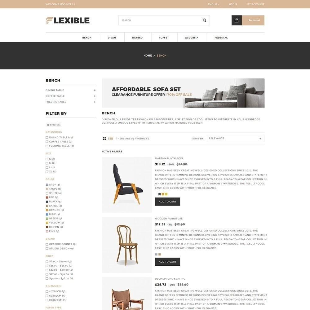 theme - Moda & Calzature - Negozio di mobili flessibile - 6