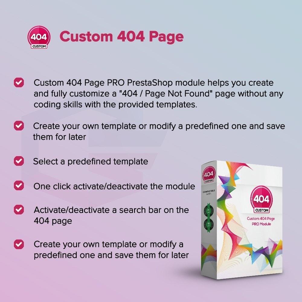 module - Personalizzazione pagine - Personalizzato 404 Page - 1