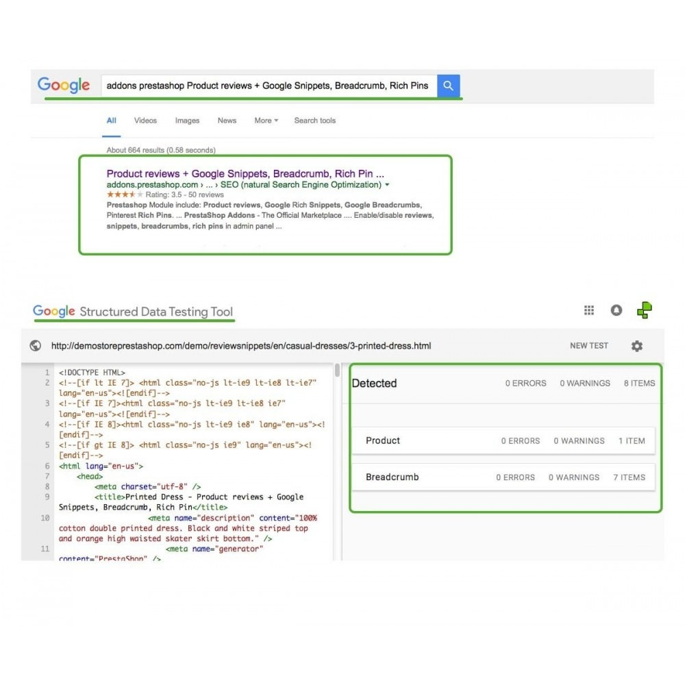 module - SEO - Product reviews + Google Snippets, Breadcrumb, Rich Pin - 3