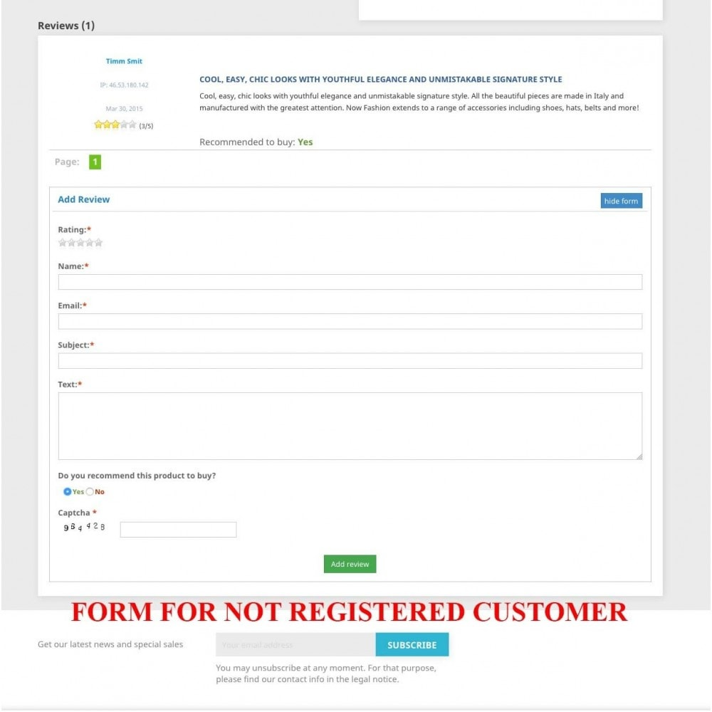 module - SEO - Product reviews + Google Snippets, Breadcrumb, Rich Pin - 5