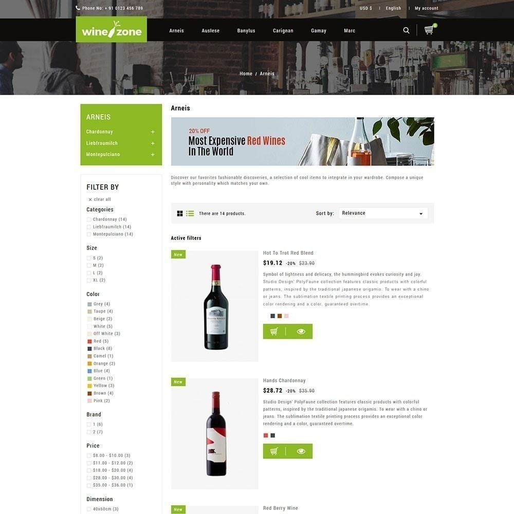 theme - Boissons & Tabac - Winezone - Magasin de vin - 3
