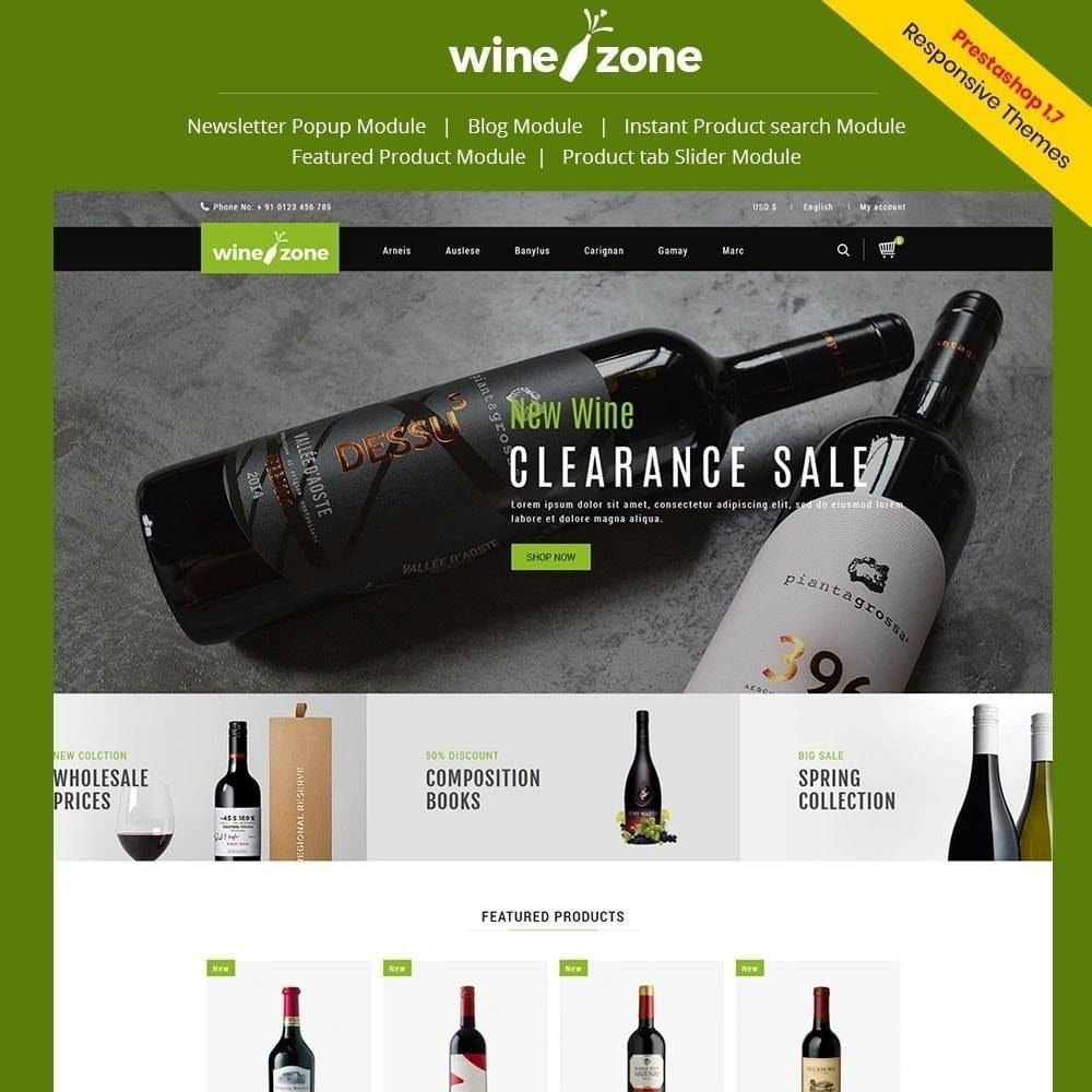 theme - Getränke & Tabak - Winezone - Weinhandlung - 1