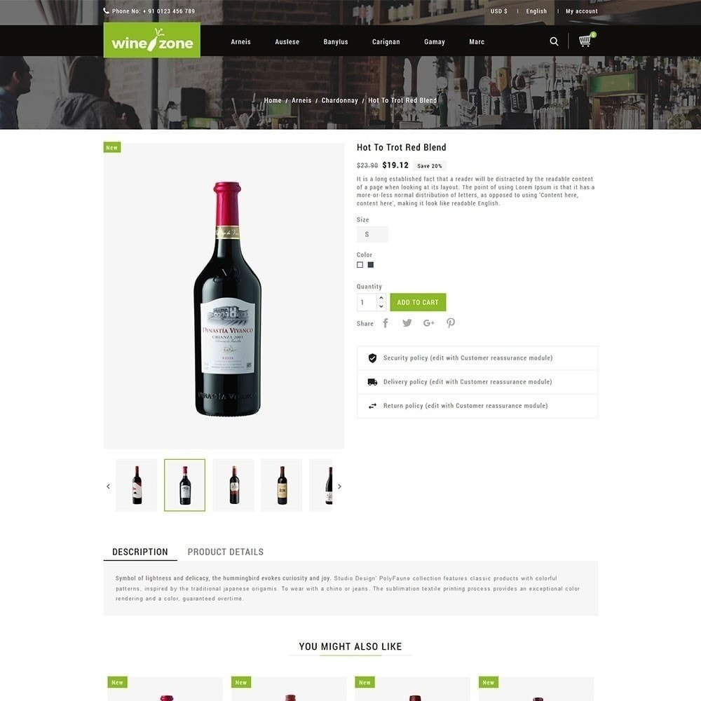 theme - Напитки и с сигареты - Winezone - магазин вина - 5