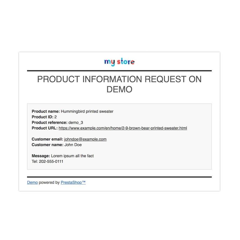 module - Zusatzinformationen & Produkt-Tabs - Product Info Requests - 5