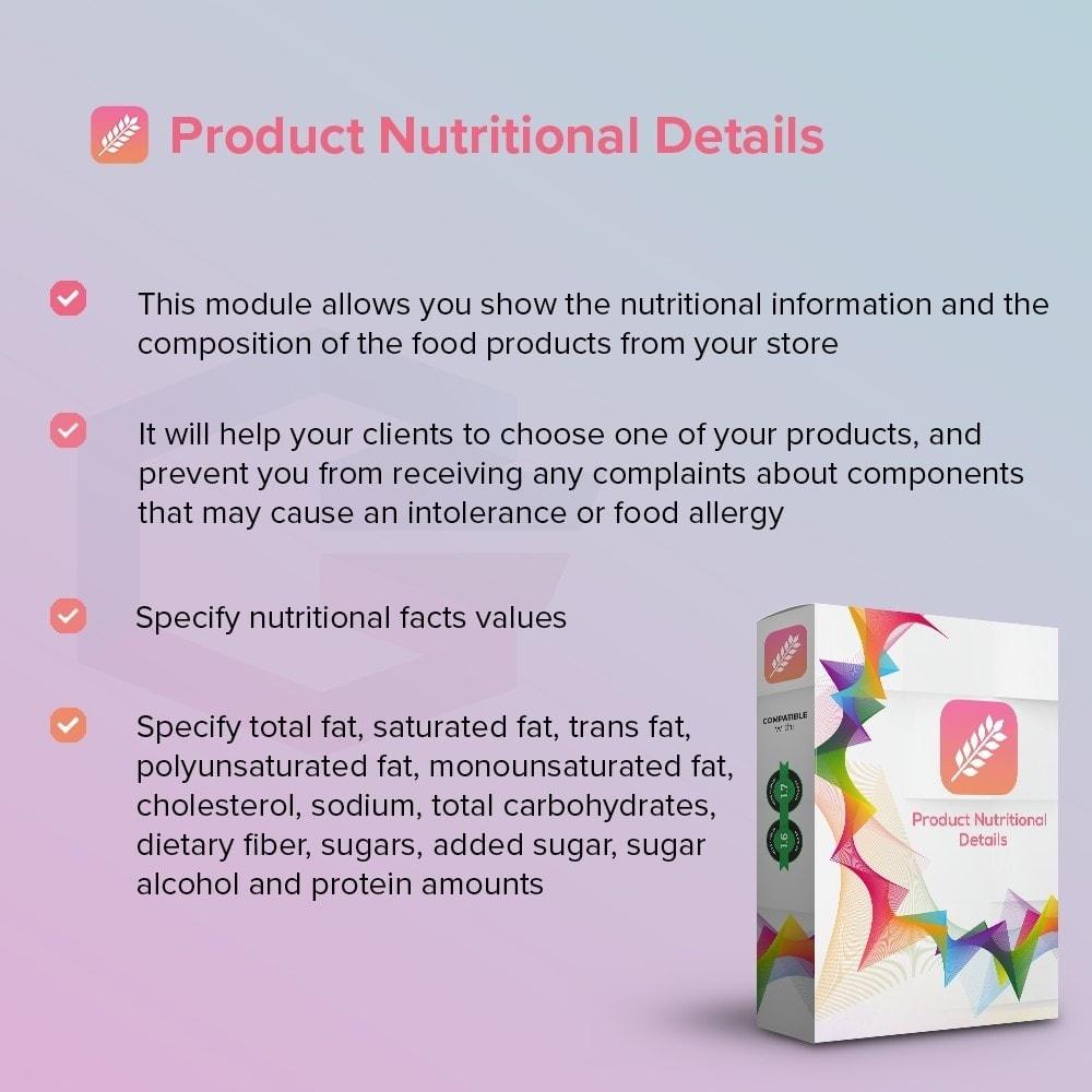 module - Informação Adicional & Aba de Produto - Product Nutritional Details - 2